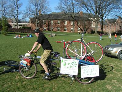 The current campus ban of bicycling on sidewalks would be eliminated.