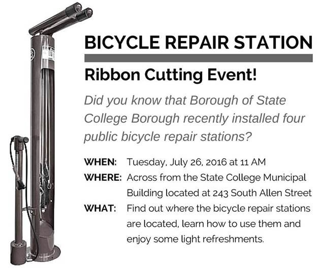 State College Bicycle Repair Station Ribbon Cutting