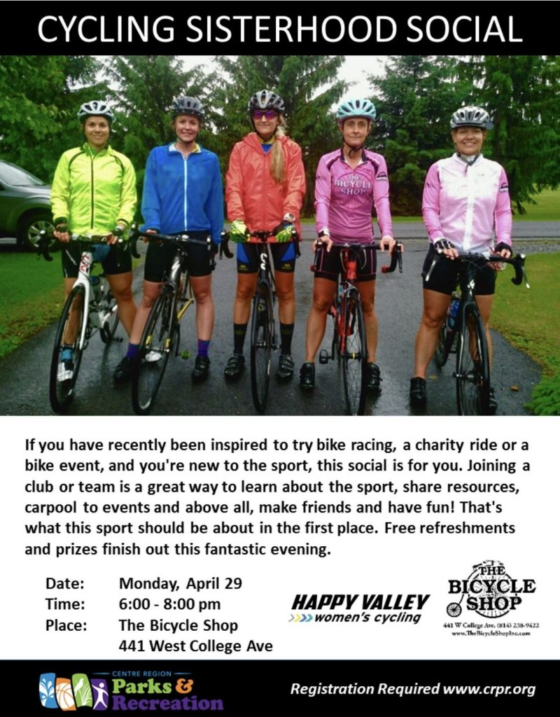 Cycling Sisterhood Social @ The Bicycle Shop | York | Pennsylvania | United States