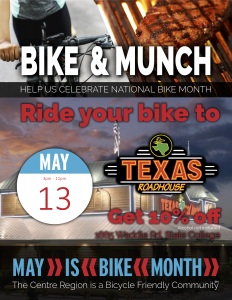 Bike and Munch Texas Roadhouse @ Texas Roadhouse  | State College | Pennsylvania | United States