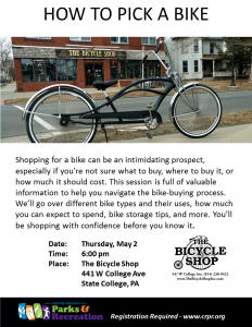 How to Pick a Bike @ The Bicycle Shop  | State College | Pennsylvania | United States
