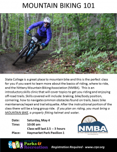 Centre Region Mountain Biking 101 @ Haymarket Park | State College | Pennsylvania | United States