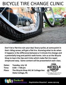 Tire Change Clinic @ The Bicycle Shop | State College | Pennsylvania | United States