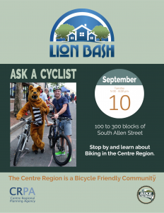 Lion Bash - Ask a Cyclist @ 100 to 300 blocks of South Allen Street