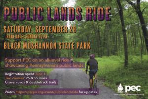Public Lands Ride @ Black Moshannon State Park